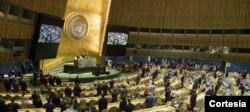 Vista general de la Asamblea General de la ONU. Foto de archivo ONU/Loey Felipe.