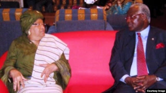 Presidents Sirleaf of Liberia and Koroma of Sierra Leone
