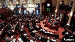 미국 일리노이 주 의회 회의장. (자료사진)
