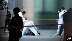 Hiện trường sau vụ nổ súng tại sân bay quốc tế Mexico City