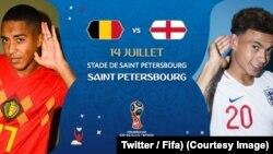 Belgique-Angleterre, affiche de la petite du mondial, 14 juillet 2018. (Twitter/Fifa)