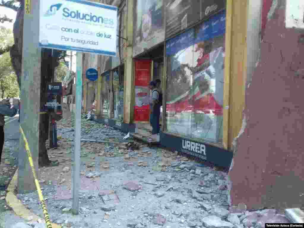Prédios ruíram, centenas de mortos em consequência do tremor de terra no México do dia 19 de Setembro, 2017