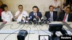 马航MH370失踪后马来西亚政府发表声明。(资料照片)