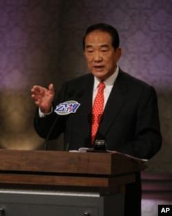 宋楚瑜在辯論會上講話