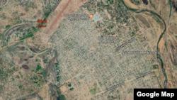 Une vue satellitaires de Sarh avec Google Earth.