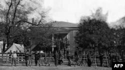Binh sỹ liên bang tại Appomattox Courthouse, tháng Tư 1865