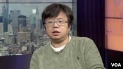 中国劳工观察执行主任李强 (资料照 美国之音方冰拍摄)