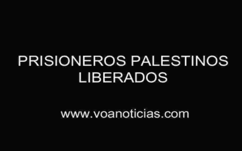 Palestinos presos liberados