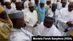 Gwamnan Sokoto Aminu Tambuwal Lokacin Jana'izar Baraden Wamakko