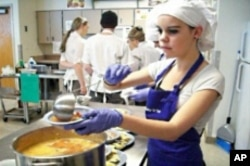 One student team made an Aztec soup, which is like a tortilla chicken soup.