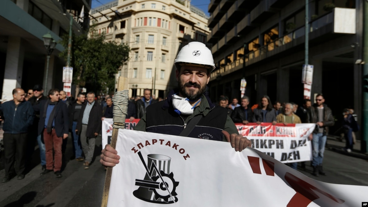 Greek Unions Strike as Bailouts to End With Austerity Blitz