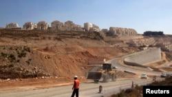以色列在约旦河西岸的一个定居点(资料照片)