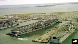 诺福克有着世界上最大的海军基地