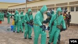 Malanje simulacro de desastre químico