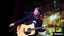 香港歌手何韻詩 (路透社照片)