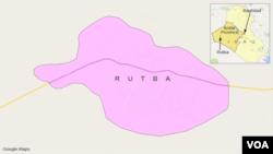 Letak kawasan Rutba, Irak.