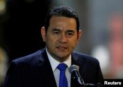 지미 모랄레스 과테말라 대통령.