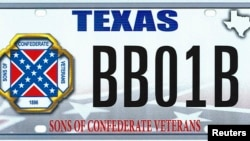 "The design of a proposed ""Sons of the Confederacy"" Texas state license plate is shown in this handout illustration provided by the Texas Department of Motor Vehicles March 20, 2015."