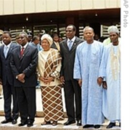 Some ECOWAS leaders with ECOWAS President Mohamed Ibn Chambas