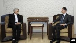 Sekretar iranskog Nacionalnog saveta za bezbednost Said Džalili tokom susreta sa sirijskim predsednikom Bašarom al-Asadom