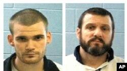 Ricky Dubose, à gauche, et Donnie Russell Rowe des prisonniers dangereux évadés de la prison de Géorgie,deux photos fournies par le département de l'Etat, 13 juin 2017.