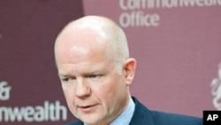 British Foreign Secretary William Hague, March 8, 2011