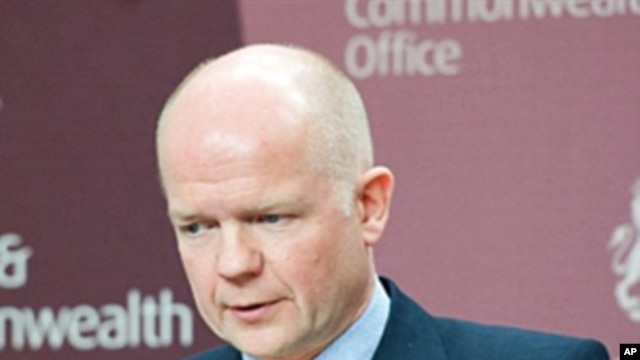 British Foreign Secretary William Hague, March 8, 2011