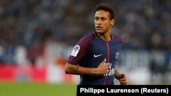 Neymar du PSG lors du match contre l'Olympique de Marseille le 22 octobre 2017.
