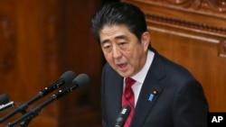 Perdana Menteri Jepang Shinzo Abe akan berpidato di hadapan Kongres AS, 29 April (foto: dok).