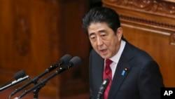 日本首相安倍晋三2014年1月24日在日本议会发表讲话