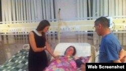 Mülki vətəndaş yaralanıb (Foto Qənirə Paşayevanın facebook səhifəsindən götürülüb)