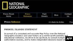 Thông cáo phổ biến trên trang web hôm 16 tháng 3 của Hội Địa lý Quốc gia Hoa Kỳ