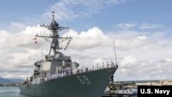 米利厄斯号驱逐舰2018年5月4日途径珍珠港前往日本(美国海军)