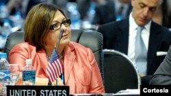 La embajadora de EE.UU. ante la OEA, Carmen Lomellin, reiteró el compromiso de Estados unidos con la seguridad alimentaria en Latinoamérica y el Caribe [Foto: OEA]
