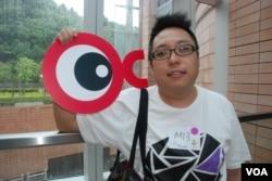 參與佔中首次商討日的譚得志認為,和平佔中應該提高香港市民的民主素養(美國之音湯惠芸)