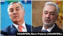 Crnogorski predsjednik Milo Đukanović i premijer Zdravko Krivokapić (Foto: VOA/RFERL/Savo Prelevic)