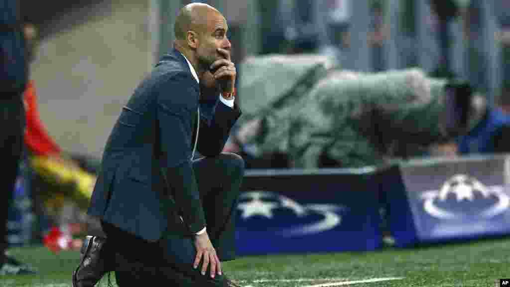 Le coach du Bayern Pep Guardiola lors du match, le 3 mai 2016.