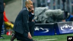Pep Guardiola alors coach de Bayern Munich.