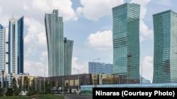 Le centre-ville d'Astana, capitale du Kazakhstan.