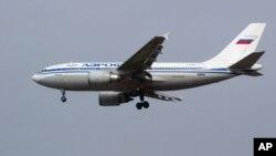 Un airbus Aeroflot atteri à l'aéroport de Moscou, le 1 avril 2003.