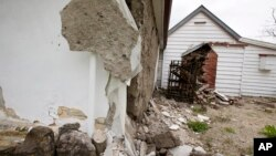 Une église historique à Waiau endommagée par le tremblement de terre en Nouvelle-Zélande, le 14 novembre 2016.
