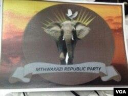 Iyalile iZEC ukuthi iMthwakazi Republic Party isebenziswe uphawu lolu.