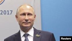 Le président russe Vladimir Poutine lors du sommet du G20 à Hambourg, Allemagne, 7 juillet 2017.