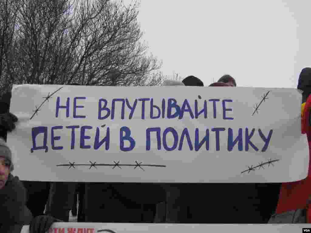 Плакаты участников митинга на Марсовом поле, Санкт-Петербург. 13 января 2013 года