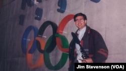 Jim Stevenson reporting from Nagano in 1998.