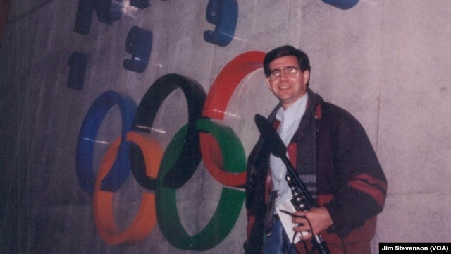 Jim Stevenson reporting from Nagano in 1998.