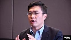 香港議會陣線立法會議員區諾軒。(美國之音湯惠芸)