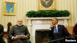 Indijski premijer Narendra Modi i predsednik Barak Obama tokom susreta u Beloj kući