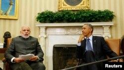 AQSh prezidenti Barak Obama Hindiston Bosh vaziri Narendra Modi bilan, Oq uy, 30-sentabr 2014-yil
