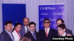 陳光誠和楊建利11月4日出席聯合國觀察記者會
